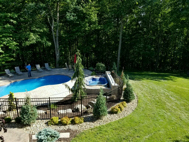 Pool & Spa with complete landscaping