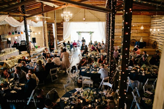 Your indoor reception can include your tables, chairs, catering, cake, linens and more!