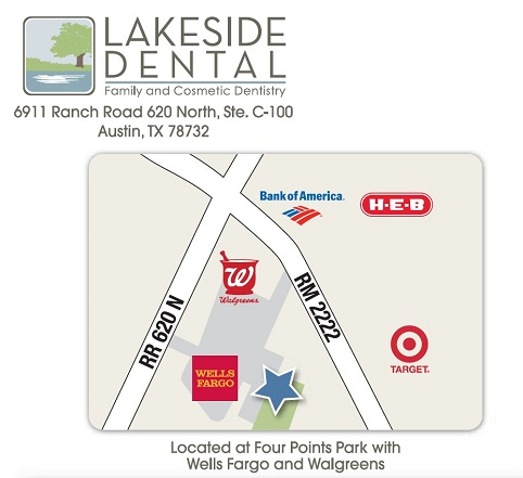 Lakeside Dental Location Map