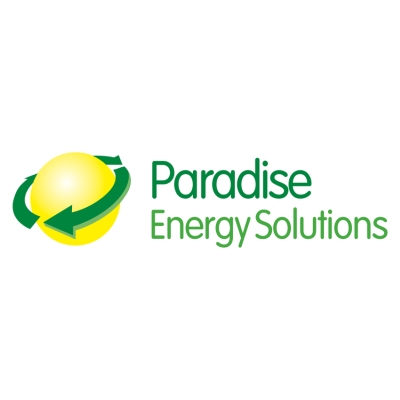 Logo for Paradise Energy Solutions, LLC. Creating a bright and sustainable future for all people.